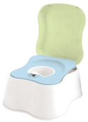 Child potty training seat with removable cup