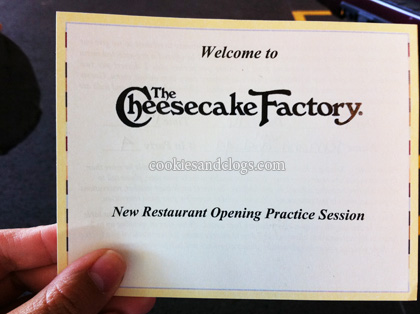 Cheesecake Factory San Mateo, California Soft Opening