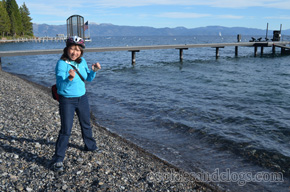 Skipping rocks in North Lake Tahoe, California