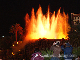 Volcano show at Mirage in Las Vegas Nevada