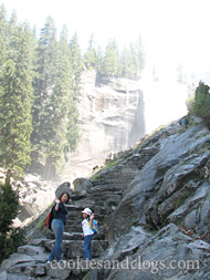 Waterfall hike at Yosemite National Park