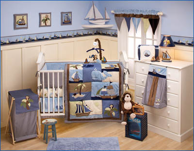 NoJo Infant Toddler Bedding Collection - Ahoy Mate