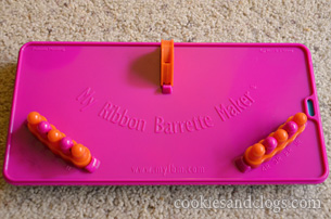 My ribbon barrette maker