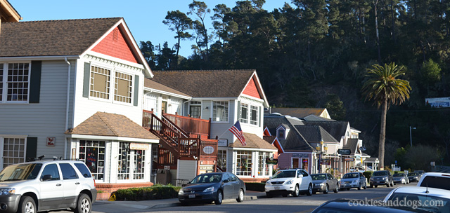 Town of Cambria on the Central California Coast