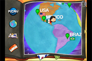 Whole Wide World iPhone iPad educational app by Fingerprint Network