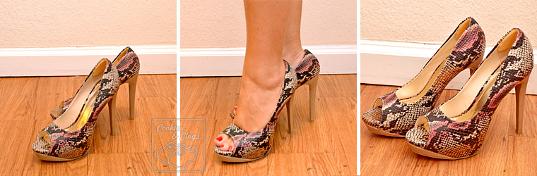Cents of Style Diva Shoes Heels Platforms Tricia multi-colored snakeskin pump