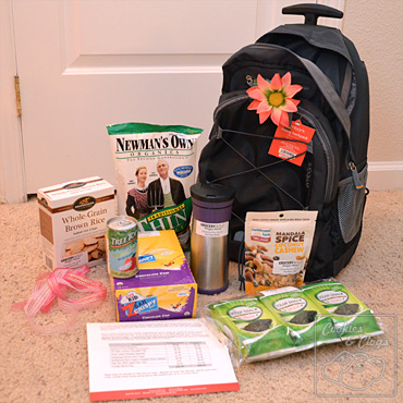 Grocery Outlet Back to School bag rolling backpack food