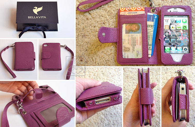 BellaVita Vita Violetta iPhone 4/4S Wristlet, in deep purple