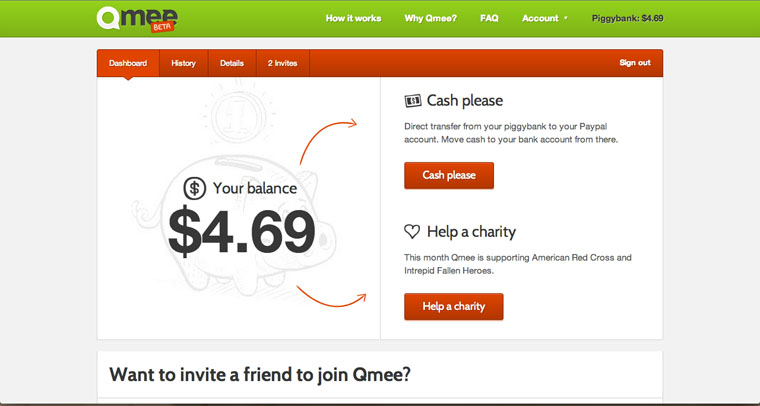 QMee Search Service with Cash Rewards