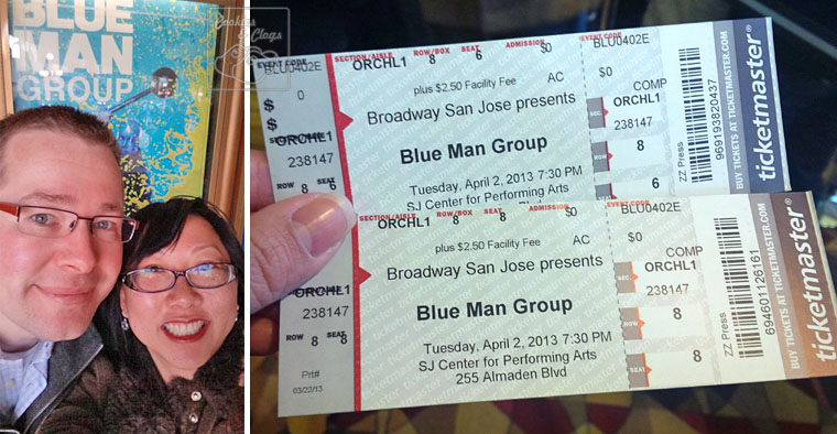 Blue Man Group Show San Jose California