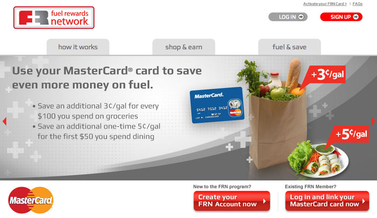 Fuel Rewards Network FRN and MasterCard Join to Save You Money on Gas