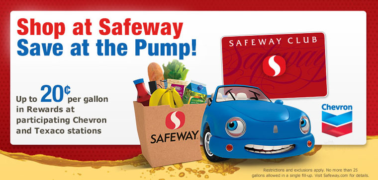 Safeway Reward Points Gas at Chevron