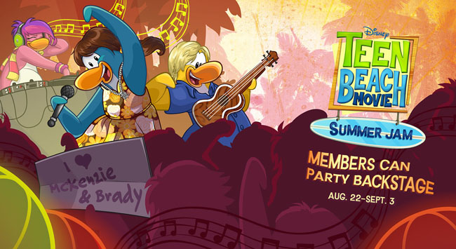 Club Penguin Teen Beach Movie Summer Jam Event