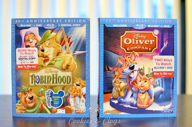 Robin Hood and Oliver and Company Movies From Disney Vault on Blu-Ray and DVD