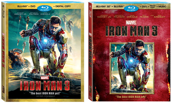 Iron Man 3 DVD, Blu-Ray, Blu-Ray 3-D Movie