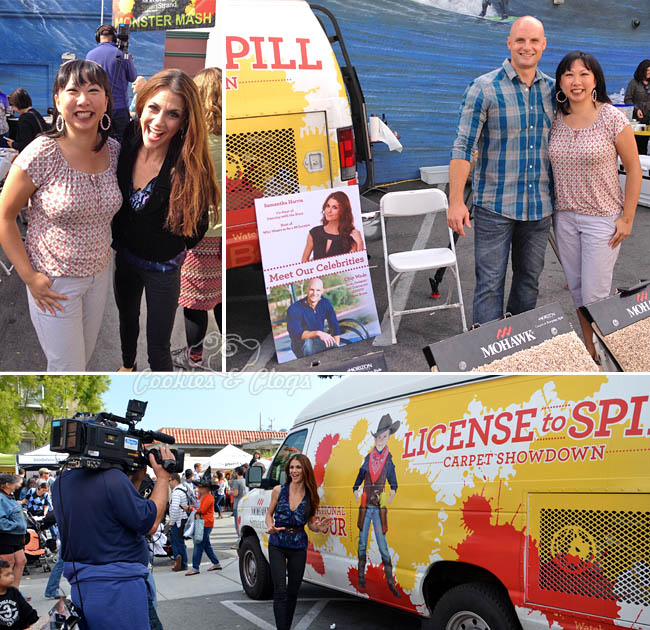 Mohawk Flooring License to Spill Tour for SmartStrand Carpet Stain Resistant in Half Moon Bay w/ Samantha Harris & Chip Wade #licensetospill #shop #cbias
