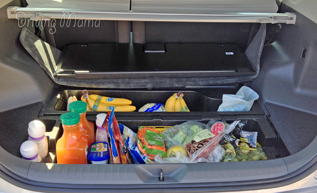 2014 Toyota Prius v Family Hybrid Review - Cargo Compartments