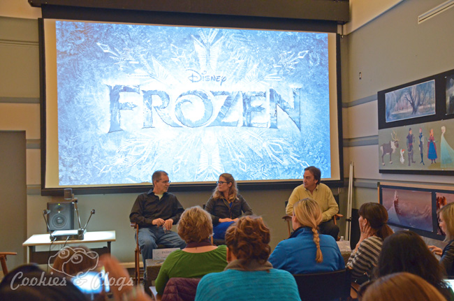 Walt Disney Frozen Press Day at Disney Animation Building during interview with directors Chris Buck, Jennifer Lee, and Producer Peter Del Vecho #DisneyFrozenEvent