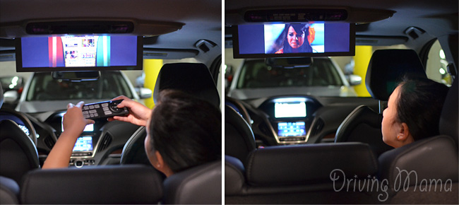 2014 Acura MDX Crossover SUV Family Review DVD Player