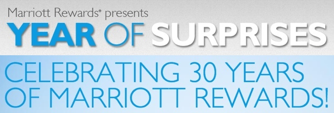 Marriott Rewards 30th anniversary Year of Surprises contest #MC #MR30