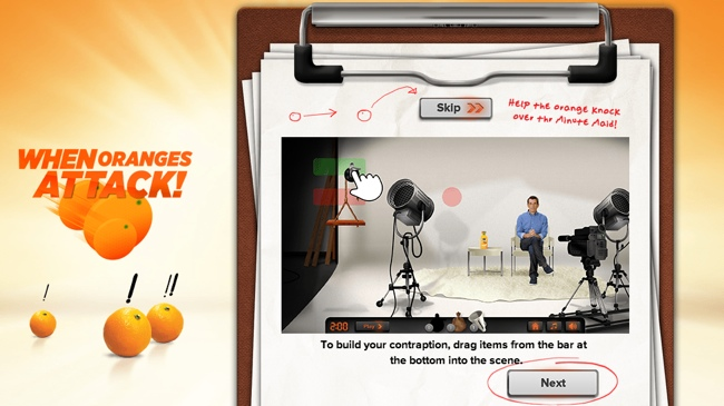 When Oranges Attack! Facebook game with Minute Maid Pure Squeezed orange juice and Modern Family's famous father