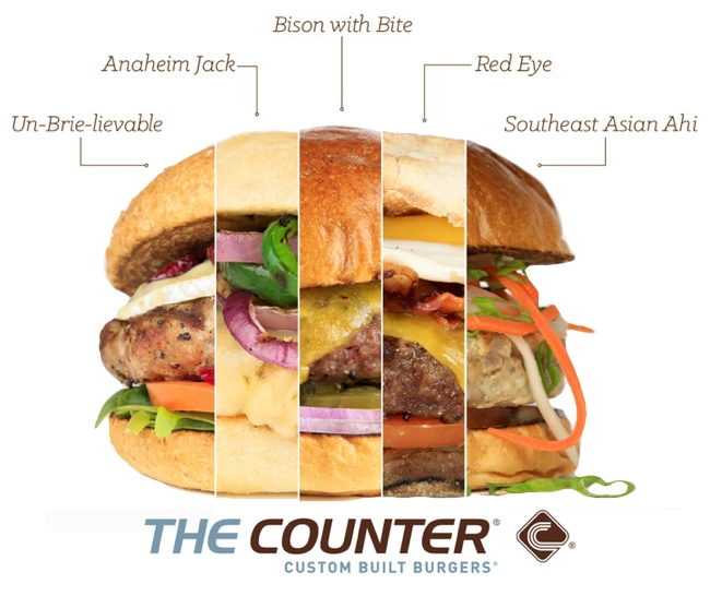 The Counter burger choices - custom built burgers and five new expert builds #TheNewGoods