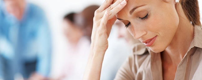 Stressed woman - possibly perimenopause symptoms #health