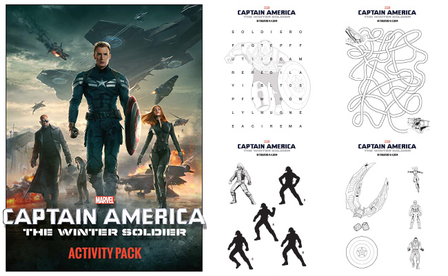 Captain America: The Winter Soldier Printable Activity Sheets and Coloring Pages #CaptainAmerica