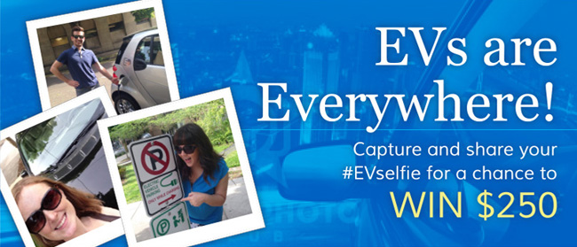 The Electric Generation #EVSelfie contest for 4 x $250 Amex GC - Awareness for Electric Vehicles / EV #Giveaway