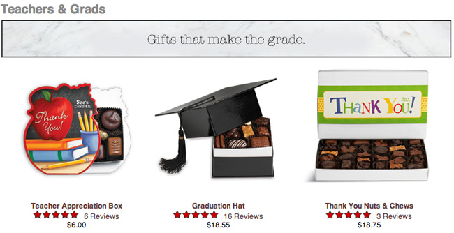 See's Candies Gourmet Chocolate - the perfect grad or teacher gift #giftideas