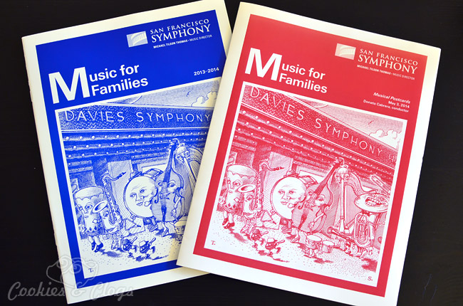 San Francisco Symphony Music for Families red and blue program guides #sanfrancisco