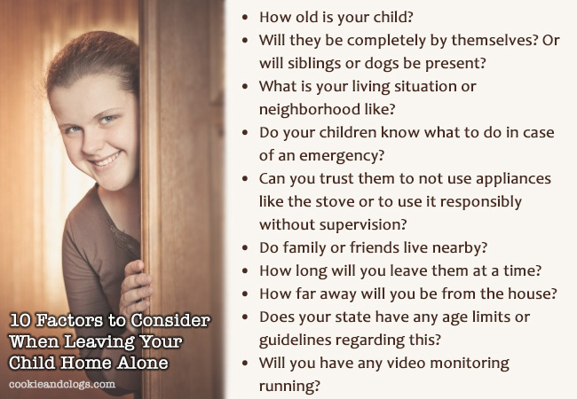 10 factors to consider when leaving your child home alone #kids #parenting