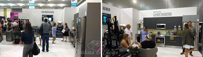 Samsung Home Appliances Booth at BlogHer '14 - Samsung refrigerators, dishwasher, and more #MasterYourHome