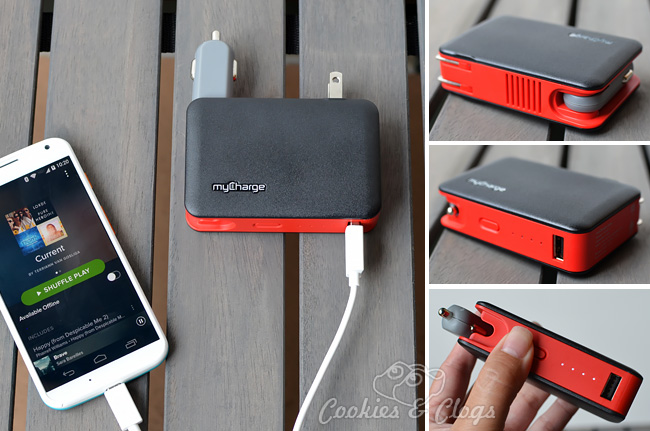 myCharge Transit 2600 portable battery pack with wall prong and car adaptor built in #technology #cars
