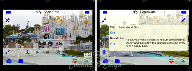 "ocialCafe free photo app and social sharing app for audio with photo – demo 50th anniversary of ""It's a Small World"" #tech"