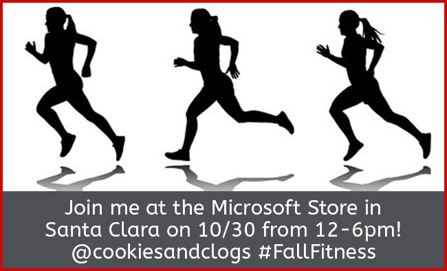 Fall Fitness event at the Microsoft Store in Santa Clara 10/30 #FallFitness #SantaClara