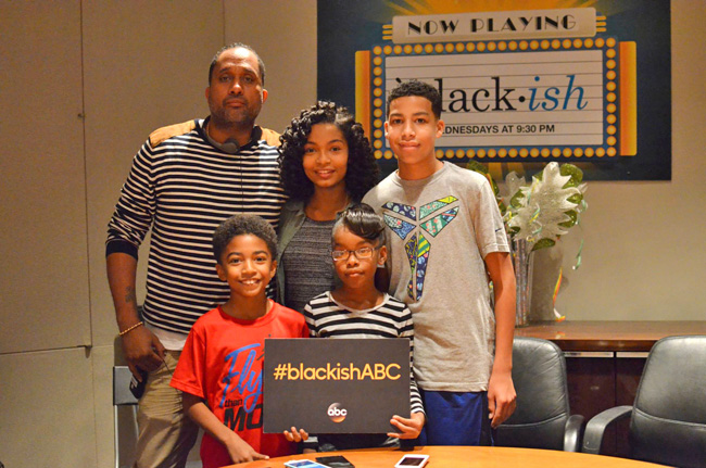 black-ish Interview with Kenya Barris and cast (kids)