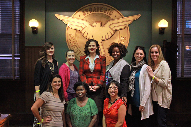 Agent Carter Set Tour plus Hayley Atwell Interview #ABCTVEvent #AgentCarter