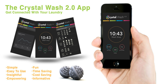 Crystal Wash – Removing the need for Laundry Detergent