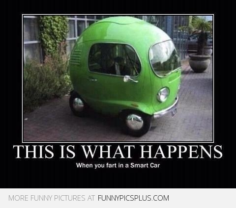 Silly Quote About Cars What Happens When You Fart in a Smart Car #quotes