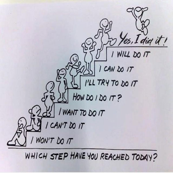 Quotes About Life | Motivational Monday | This positive quote about life will help motivate you to just keep climbing and to believe you can do whatever it is you set out to! Which step have you reached today?