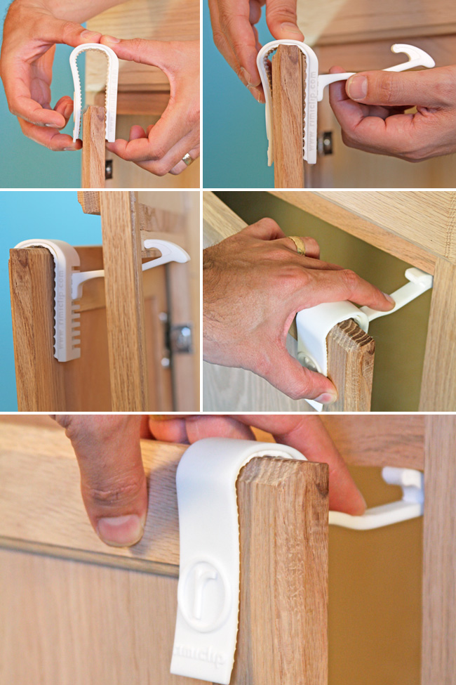 Children   Parents   The Rimiclip is a revolutionary child-safety latch for cabinets that needs no tools for installation and does not damage any surfaces. Check out the GoFundMe page to see how you can get a set to baby-proof your home.