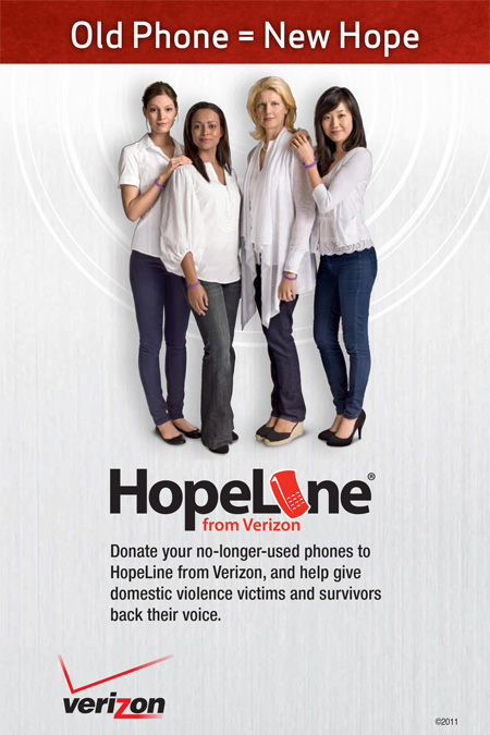 Celebrate Earth Day 2015 by recycling or donating your old used devices included cell phones. Get a gift card or credit at Verizon Wireless or donate to HopeLine, a program to support victims of domestic violence.