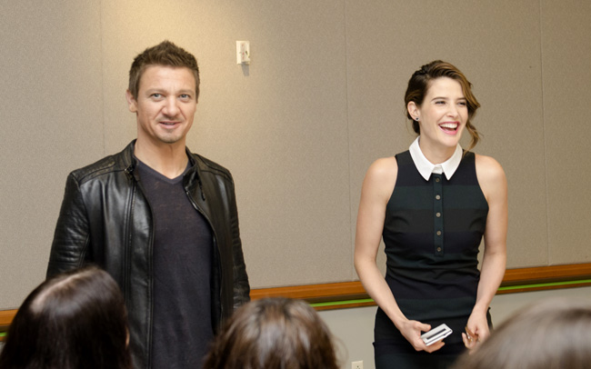 Movies | Celebrities | Exclusive Marvel Avengers Age of Ultron Interview with Jeremy Renner aka Hawkeye and Cobie Smulders aka Maria Hill. Love their take on their roles!