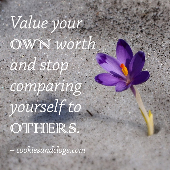 Quotes about Life | Positive and motivational quote to value your self and to stop comparing.