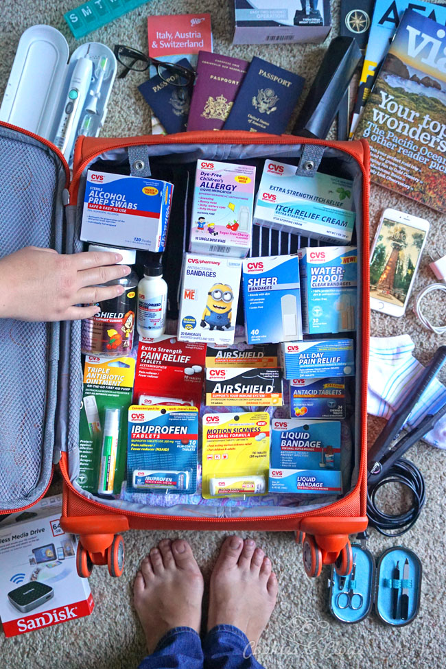 Travel   Summer   Health   If you're planning some summer travel, then you'll want to pack some extra supplies to ensure no one is sick or injured during your family vacation. See how we plan to use these to fill our flight and road trip first aid kits.