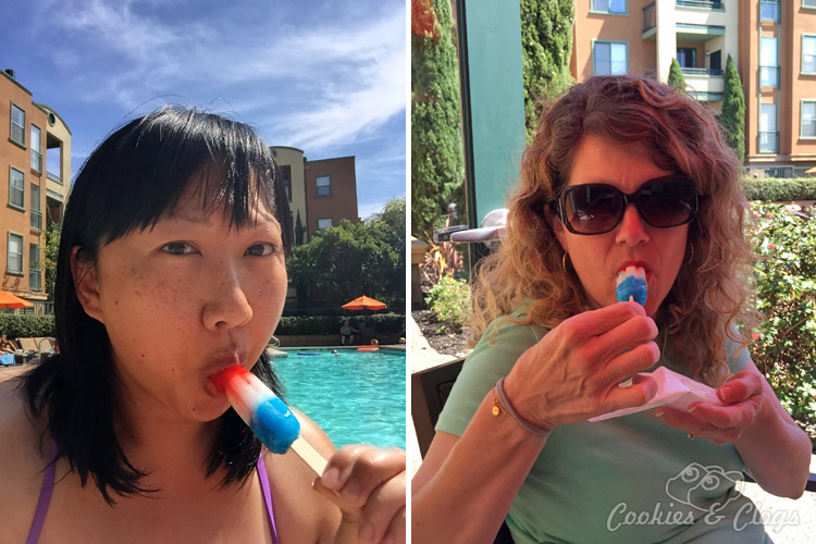 Summer | Frozen Treat | See how we enjoy summer, sun, fun, and friends with Bomb Pop by the pool.