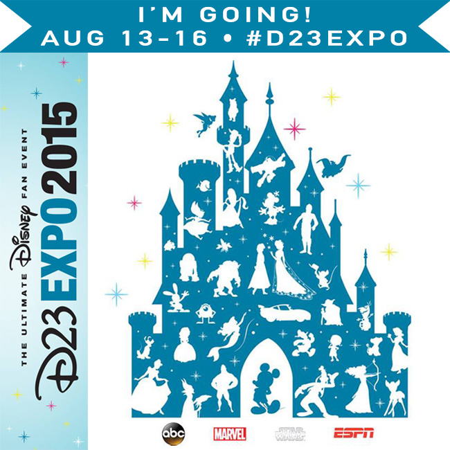 Blogger Badge for D23 Expo 2015 and Disneyland 60th Celebration #D23Expo #Disneyland60