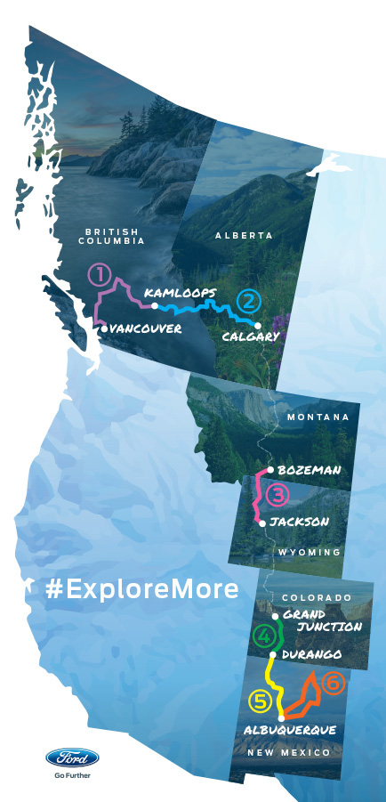 Cars | Travel | The 2016 Ford Explorer Platinum will be launched during the Platinum Adventure Tour through Canada and the U.S. Join me from Kamloops to Calgary via Banff and Glacier National Park. Follow hashtag #ExploreMore