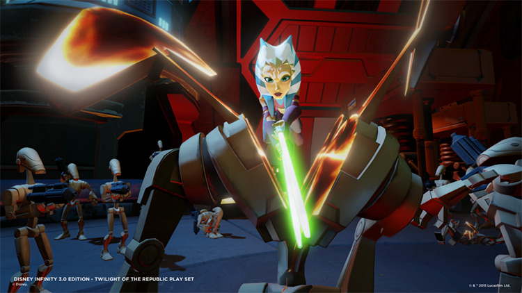 Video Games | Technology | Disney Infinity 3.0 Edition Starter Pack comes with the Twilight of the Republic Play set, Ahsoka, and Anakin Skywalker. See this family friendly review.